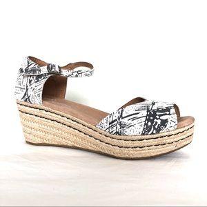 TOMS Espadrille Platform Wedge Sandal Open Toe